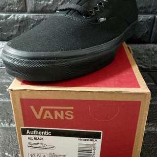 Vans authentic all black classic
