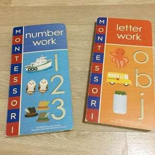 Montessori letter work & number work