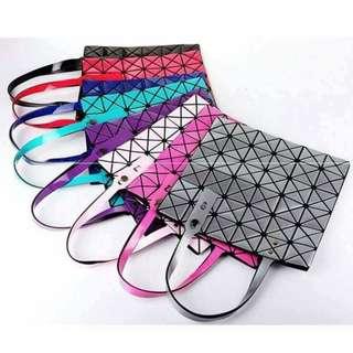 韓國同款幾何折疊包菱格單肩包 South Korea with the geometric folding bag Lingge shoulder bag