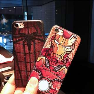 Ironman & Spiderman Iphone 6/6s/6+/7/7+/8/8+ Mobile Casing