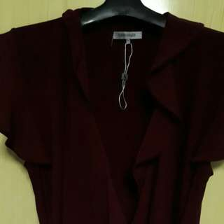 Wine Red Wrap around blouse