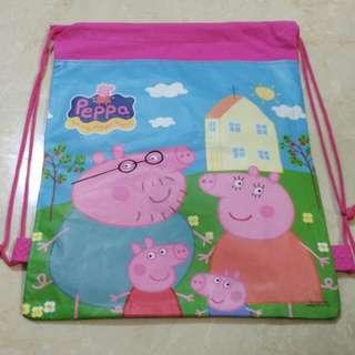 [BN] Kids string bag backpack peppa pig inspired