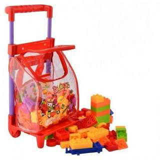 96pcs Plastic Bricks In Trolley Bag