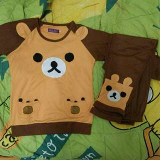 Piyama baju Tidur beruang coklat lucu