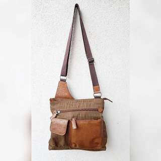 LEATHER EXTRA GENUINE LEATHER  SLING BAG