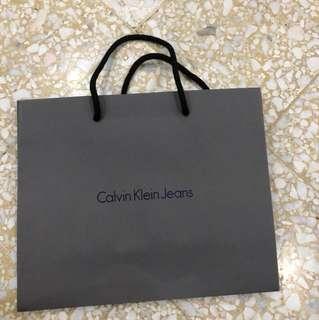 [INC POS] CALVIN KLEIN JEANS PAPER BAG