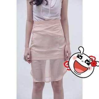 (NEW) Creamy Scallop Skirt
