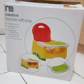 Mothercare booster with tray