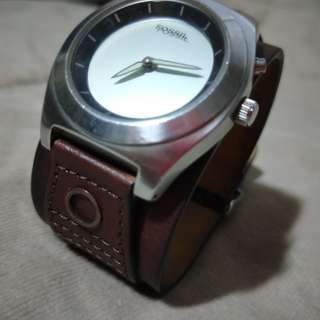 Fossil Leather Strap Watch