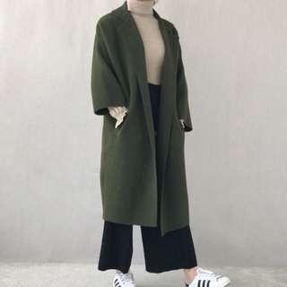 🚚 日本製 現貨 毛呢針織大衣 外套