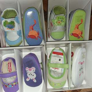 Fisher price infant soft sole shoes 0-12mos