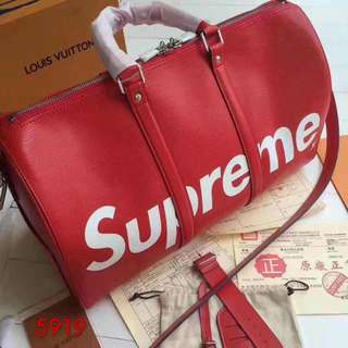 TRAVEL BAG LV SUPREME (Red)