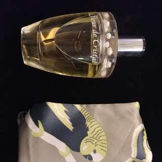 Fleur de Cristal 全新連盒100ml parfum 香水連 scarf 絲巾 gift set