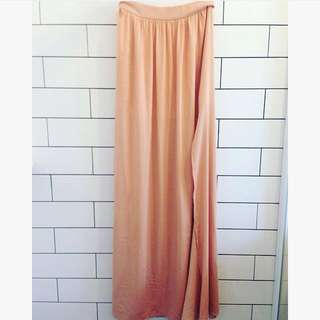 Blaque Label Dust Pink Chiffon Maxi Skirt