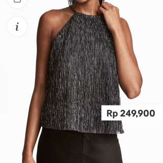 glittery top by bershka