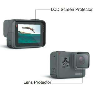 Brand new 3rd party LCD screen and lens protector for Gopro Hero 5 and 6