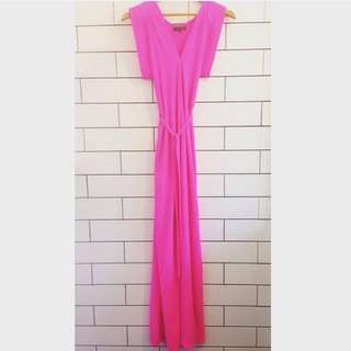 Sheike Fierce Hot Pink Maxi Dress