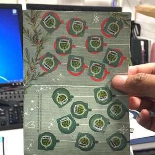 Starbucks Sticker Card complete