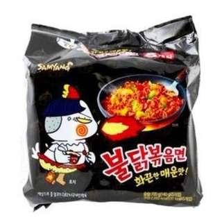 【現貨】韓國三養噴火辣雞肉炒麵 辣雞麵 三養(5入/袋)