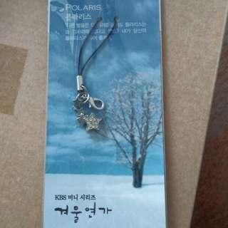 Winter sonata polaris handphone keychain