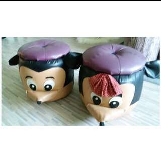 Mickey and Minnie Mouse Stool