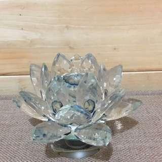 🚚 水晶 * 玻璃 * 轉動 * 蓮花座