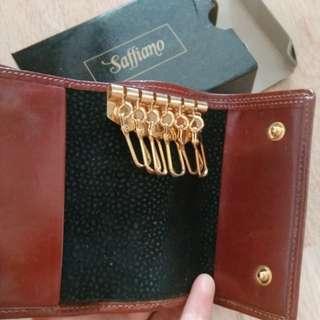 BN leather car keys wallet