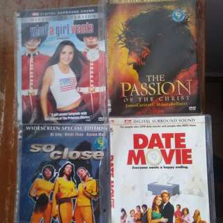 DVD set What A Girl Wants, So Close, The Passion, Date Movie and Bridget Jones Diary
