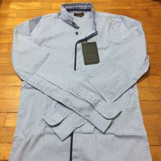 Zara Man Mao Collar L/S Shirt