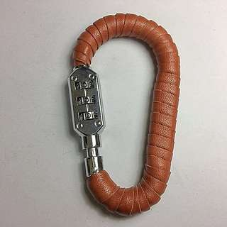 Leather wrapped carabiner lock (basic helmet lock)