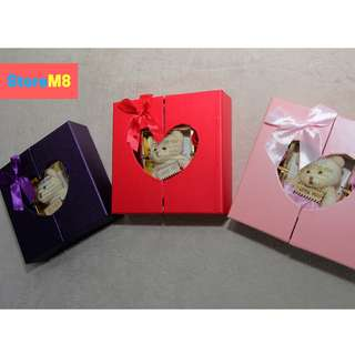 10pcs Scented Roses Soap Flowers With Bear Gift Box Set