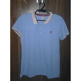 Penshoppe blue  polo shirt in good quality @ low price
