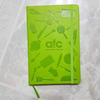 Brand New Asian Food Channel AFC Lime Green Notebook