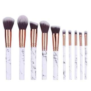03M Marble Makeup Brushes PO Brush Set
