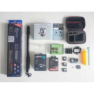 GoPro HERO5 with accessories (for SCUBA DIVING)