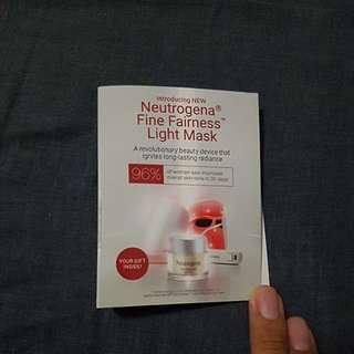 Neutrogena Fine Fairness Gel Cream 5g