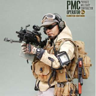 """1/6 Scale Hot Toys - PMC Opereator 07 Ver. Limited Edition - ( 12"""" Collectible Action Figure ) ONLY LIMITED TO 1,000 UNITS WORLDWIDE !!!Excellent Condition_NIB_Sideshow Collectibles_Damtoys"""