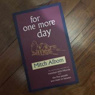 Mitch Albom Books - for one more day