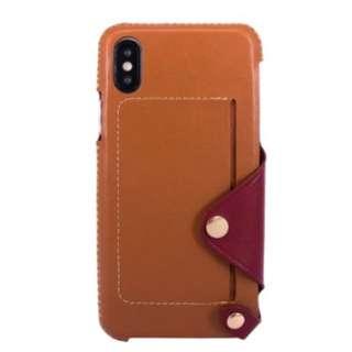 OBX leather case for iphoneX 可放卡 真皮 電話殻 手機套