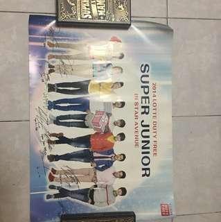 Super junior 2014 lotte duty free poster
