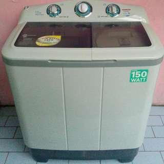 mesin cuci sanken bagus mulus xtra low watt hemat listrik