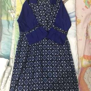 Dress Kebaya warna biru
