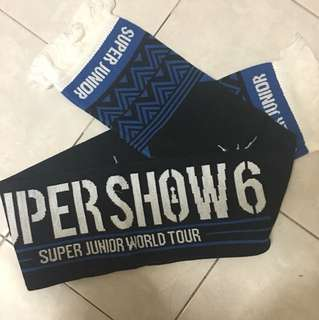 Super junior super show 6 official supporting towel