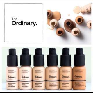 ⚡️Preorder⚡️[THE ORDINARY] Coverage Foundation // Serum Foundation
