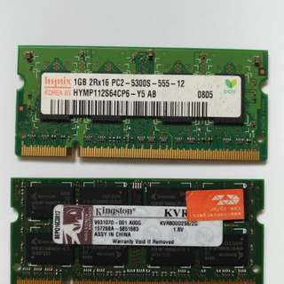 Laptop Ram 2GB 1GB