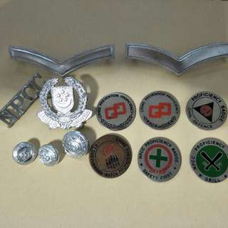 Old NPCC badges, rank, button