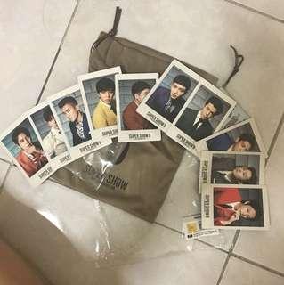 Super junior super show 6 pouch set