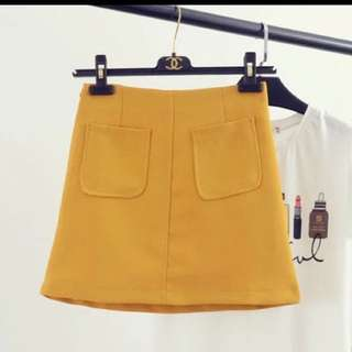 Brand new mustard skirt good material S