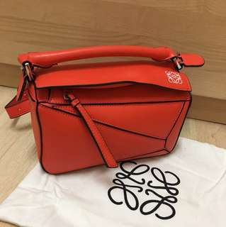 Loewe puzzle bag small Apricot/orange 1:1 replica