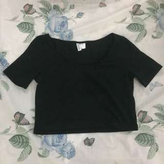 Black Cropped Top H&M